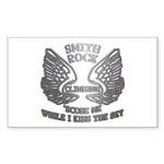 Smith Rock Climbing Chrome Wings Sticker (Rectangl