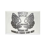 Smith Rock Climbing Chrome Wings Rectangle Magnet