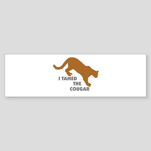 I Tamed the Cougar Bumper Sticker (50 pk)