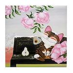 CAT ART ~ Seasons - Winter Ca Tile Coaster