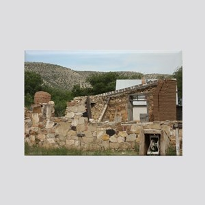 Ruins in Lincoln New Mexico Rectangle Magnet