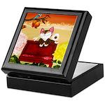 CAT ART ~ Seasons - Autumn Ca Keepsake Box
