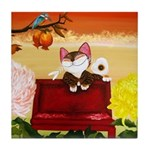 CAT ART ~ Seasons - Autumn Ca Tile Coaster
