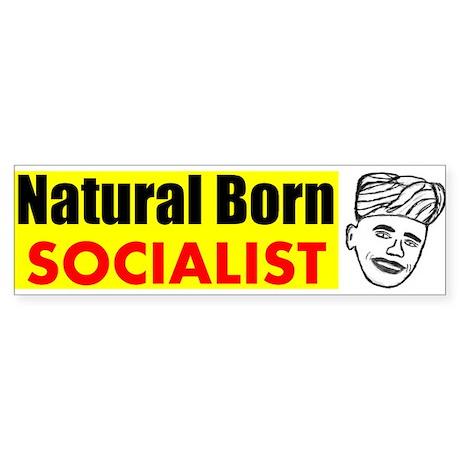 Obama Natural Born Socialist Bumper Sticker