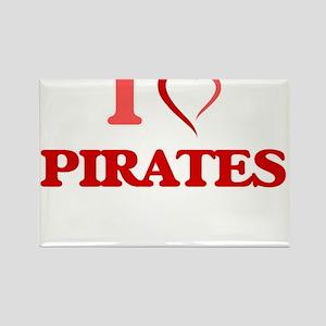 I Love Pirates Magnets