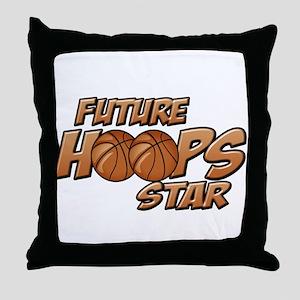 Future Hoops Star Throw Pillow