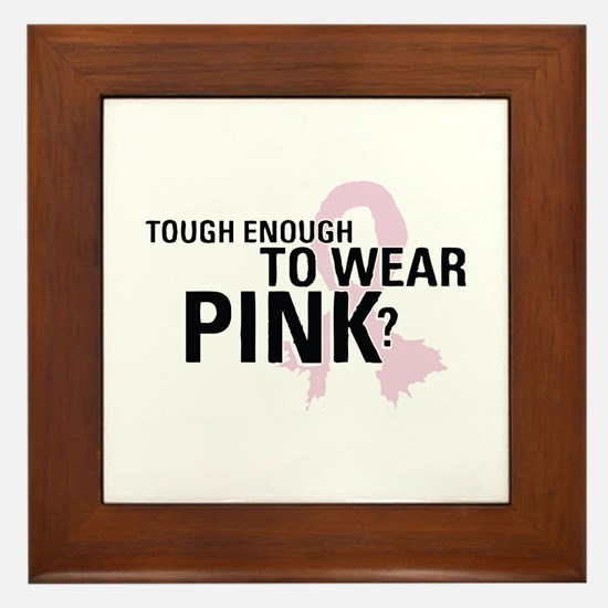 Cute Breast cancer cause Framed Tile