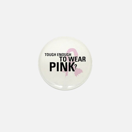 Cute Real men wear pink Mini Button
