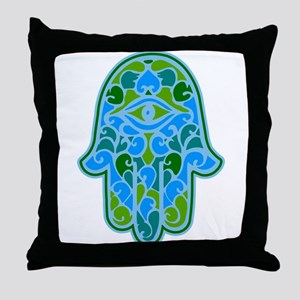 Artsy Hamsa Throw Pillow