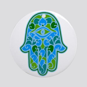 Artsy Hamsa Ornament (Round)