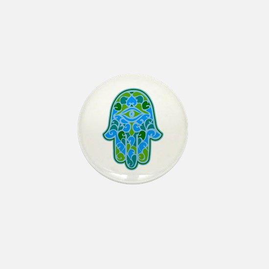 Artsy Hamsa Mini Button