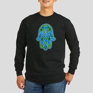 Artsy Hamsa Long Sleeve Dark T-Shirt
