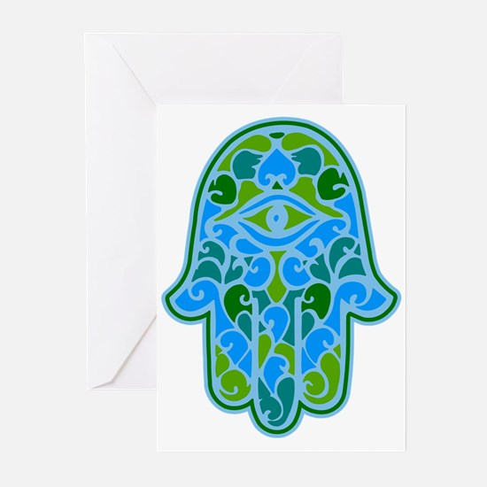 Artsy Hamsa Greeting Cards (Pk of 10)