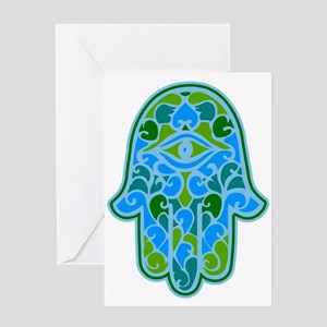 Artsy Hamsa Greeting Card