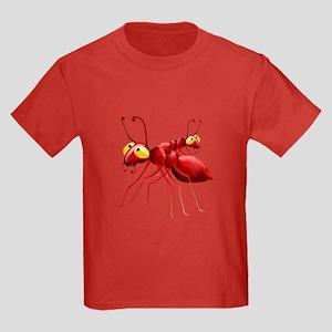 Two Red Ants Kids Dark T-Shirt