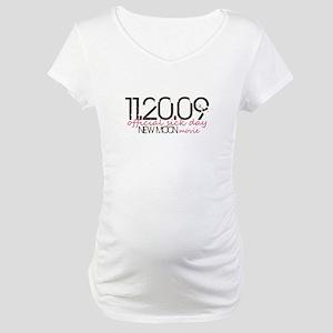 11.20.09 - pink & brown Maternity T-Shirt