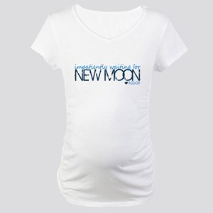 Impatiently ... - blue Maternity T-Shirt