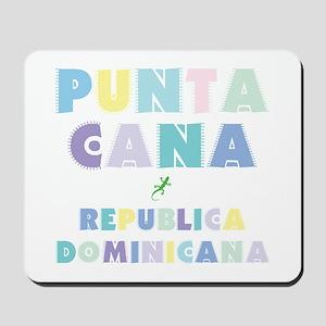 Punta Cana Island Colors Block Mousepad