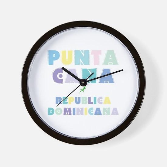Punta Cana Island Colors Block Wall Clock
