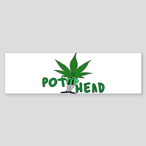 Pot Head Bumper Sticker