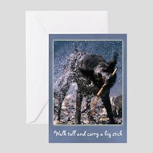 Big Stick Dog Greeting Card