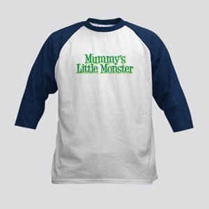 Mummy's Little Monster's Kids Baseball Jersey