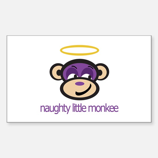 Naughty Little Monkee - Rectangle Decal