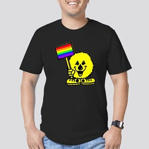 Rainbow Flag Men's Fitted T-Shirt (dark)