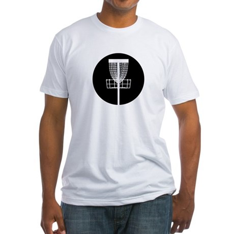 Disc Golf Basket Fitted T-Shirt