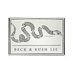 Beck & Rush Lyin' Snake Rectangle Magnet