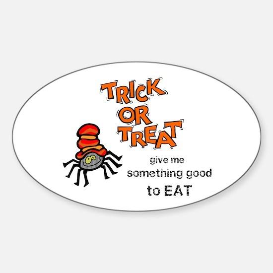 Trick or Treat Sticker (Oval)