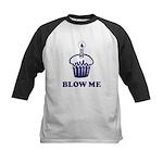 Blow Me Cupcake Kids Baseball Jersey