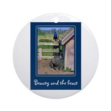 Beauty & The Beast Ornament (Round)
