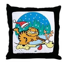 Odie Reindeer Throw Pillow