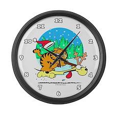 Odie Reindeer Large Wall Clock