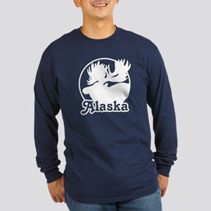 Alaska Moose Long Sleeve Dark T-Shirt