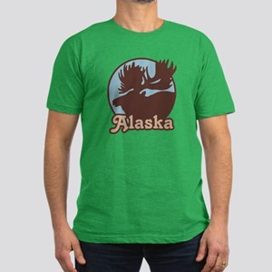 Alaska Moose Men's Fitted T-Shirt (dark)