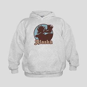 Alaska Moose Kids Hoodie