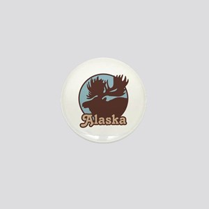 Alaska Moose Mini Button
