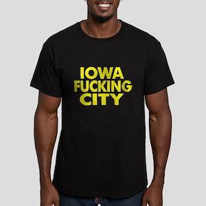 Iowa Fucking City Men's Fitted T-Shirt (dark)