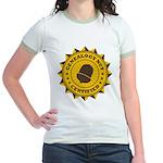 Certified Genealogy Nut Jr. Ringer T-Shirt