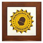 Certified Genealogy Nut Framed Tile