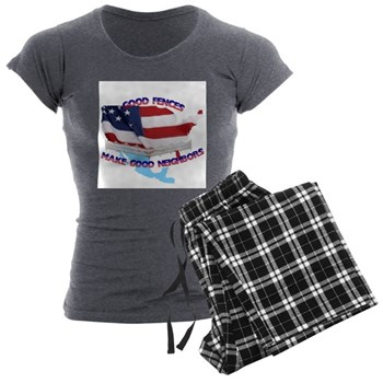 Good Fences 1 Women's Charcoal Pajamas