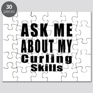 Ask Me About My Curling Skills Puzzle