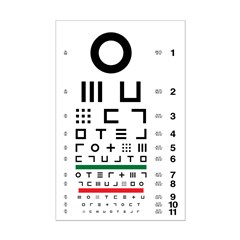 Abstract symbols eye chart #1