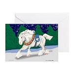 Christmas Draft Horse Greeting Card