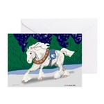 Christmas Draft Horse Greeting Cards (Pk of 10)
