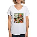 Celtic Harvest Moon Women's V-Neck T-Shirt