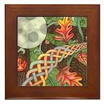 Celtic Harvest Moon Framed Tile