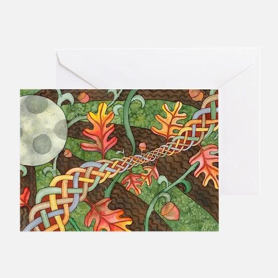 Celtic Harvest Moon Greeting Card